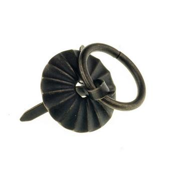 Ручка - колечко металлическая, цвет бронза 2,5 см