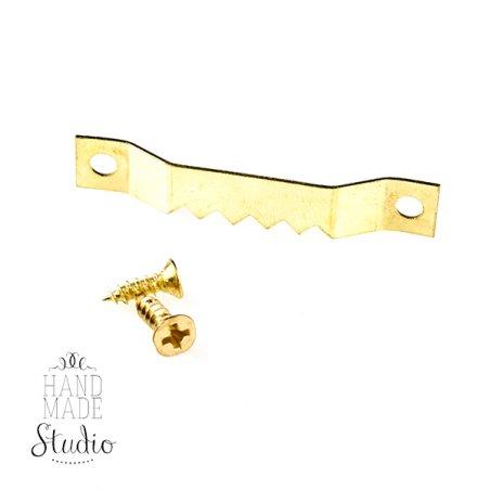 Вешалка для картинки D041, цвет золото 4 см