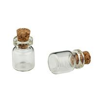Стеклянная бутылочка с пробкой, 10x18мм