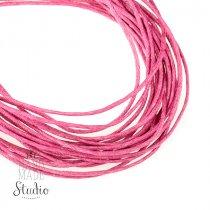 Вощеная нить, цвет темно-розовый, 1 мм