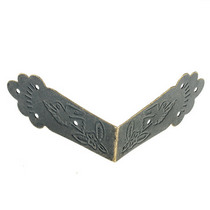 Уголок металлический, 057 цвет бронза 5,5 см
