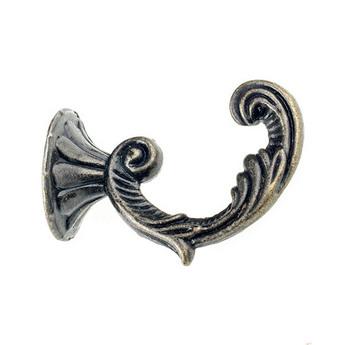 Крючок металлический, цвет бронза 4,5х3 см