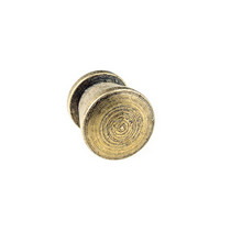 Ручка металлическая С 373, цвет бронза 1,2х1,2 см