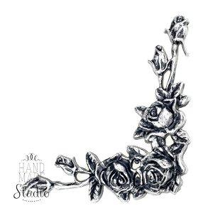 Уголок пластиковый с розами, 15х16 см