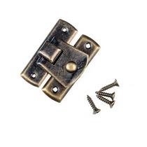 Замочек металлический Z-3, цвет старая латунь, 2х3 см
