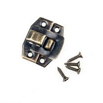 Замочек металлический  А-012, старая латунь, 2,5х2 см