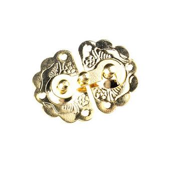 Замочек для деревянных заготовок металлический А-039, цвет золото, 4х3 см