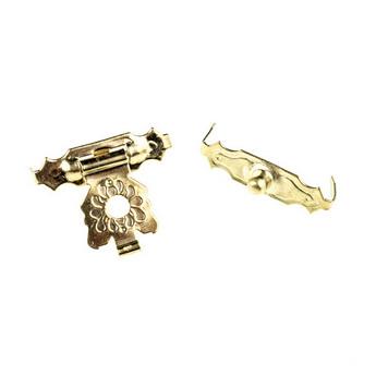 Замочек для деревянных заготовок металлический А-007, цвет золото, 2х1,7 см