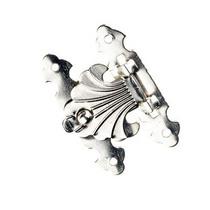 Замочек металлический А-010, цвет серебро, 4х2,5 см