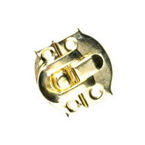 Замочек металлический А-020, цвет золото, 3х3,2 см