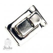 Замочек металлический М-005, цвет серебро, 2,8х4 см