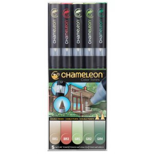 Набор 5 маркеров Chameleon 5-Pen Naturel Tones Set СТ0512