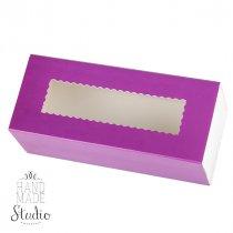 Коробочка для упаковки подарка, цвет фиолетовый