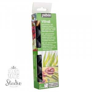 Набор красок Vitrail Pebeo 6 цветов