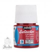 Краска по светлым тканям Transparent Setacolor Pebeo №24  Красный, 45мл.