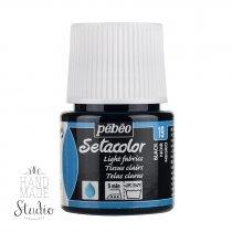 19 Краска по светлым тканям черная Setacolor Pebeo