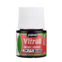 Краска для стекла прозрачная Vitrail 16 Оранжевая, 45мл.