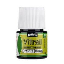 Краска для стекла прозрачная Vitrail 22 Золотисто-зеленая, 45мл.