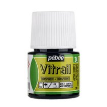 Краска для стекла прозрачная Vitrail 34 Зеленое яблоко