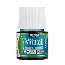 Краска для стекла прозрачная Vitrail 17 Бирюзовая, 45мл.