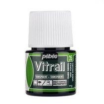 Краска для стекла прозрачная Vitrail 35 Темно-зеленая, 45мл.