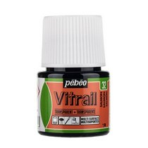 Краска для стекла прозрачная Vitrail 32 Бледно-розовая, 45мл.