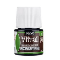Краска для стекла прозрачная Vitrail 11 Коричневая, 45мл.