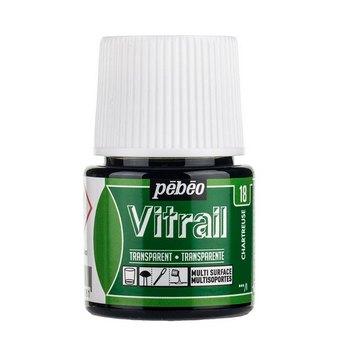 Краска для стекла прозрачная Vitrail 18 Шартрез