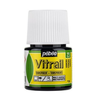 Краска для стекла прозрачная Vitrail 23 Лимонная