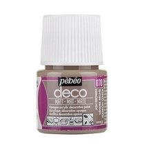 №070 Акриловая краска Pebeo Deco Matt, пепельный коричневый 45мл.