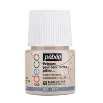 №69 Акриловая краска Pebeo Deco Matt, античный белый 45мл.