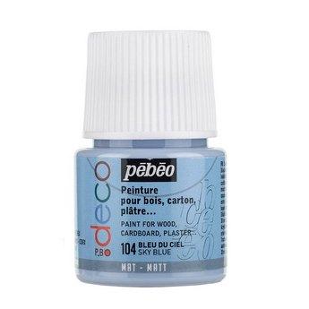 Акриловая краска Pebeo Deco Matt, небесныая голубая 104