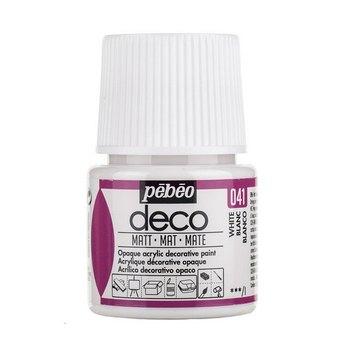 Акриловая краска Pebeo Deco Matt, белая 041