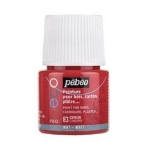 №83 Акриловая краска Pebeo Deco Matt, вишневая
