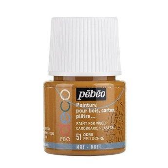 Акриловая краска Pebeo Deco Matt, красная охра 51