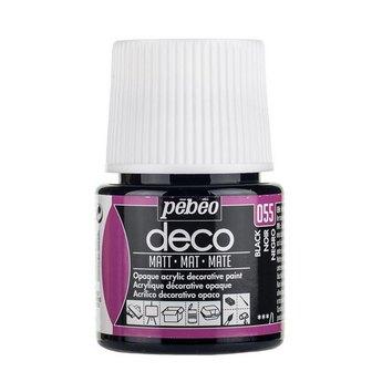 Акриловая краска Pebeo Deco Matt, черная 055