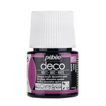 №055 Акриловая краска Pebeo Deco Matt, черная 45мл.
