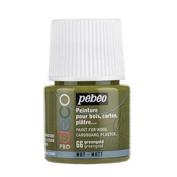 Акриловая краска Pebeo Deco Matt, золотистый зеленый 66