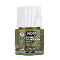 №66 Акриловая краска Pebeo Deco Matt, золотистый зеленый 45мл.