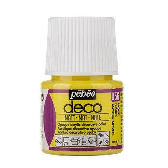 Акриловая краска Pebeo Deco Matt, лимонная желтая 056