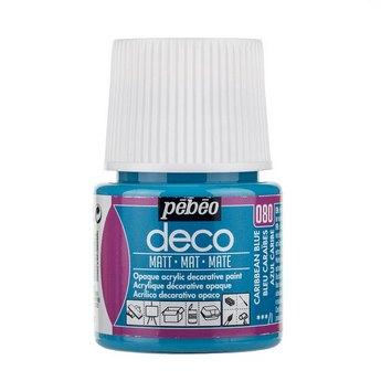 Акриловая краска Pebeo Deco Matt, карибский голубой 080