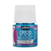 №080 Акриловая краска Pebeo Deco Matt, карибский голубой 45мл.