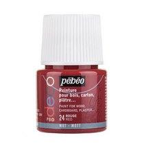 №24 Акриловая краска Pebeo Deco Matt, красная 45мл.