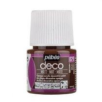 №029 Акриловая краска Pebeo Deco Matt, коричневая 45мл.