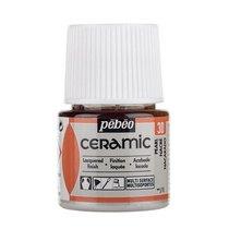 Краска-эмаль лаковая непрозрачная Ceramic Pebeo 30, цвет - перламутровый, 45мл.