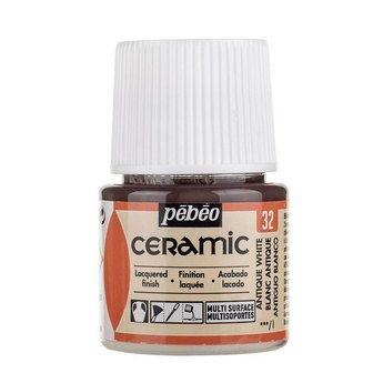 Краска-эмаль лаковая непрозрачная Ceramic Pebeo 32, цвет- античный Белый