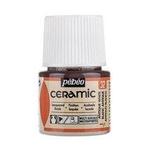 Краска-эмаль лаковая непрозрачная Ceramic Pebeo 32, цвет- античный Белый, 45мл.