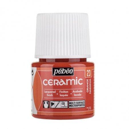 Краска-эмаль лаковая непрозрачная Ceramic Pebeo 23, цвет - оранжевый