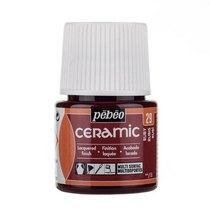 Краска-эмаль лаковая непрозрачная Ceramic Pebeo 29, цвет - рубиновый, 45мл.
