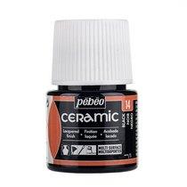 Краска-эмаль лаковая непрозрачная Ceramic Pebeo 14, цвет - черный, 45мл.